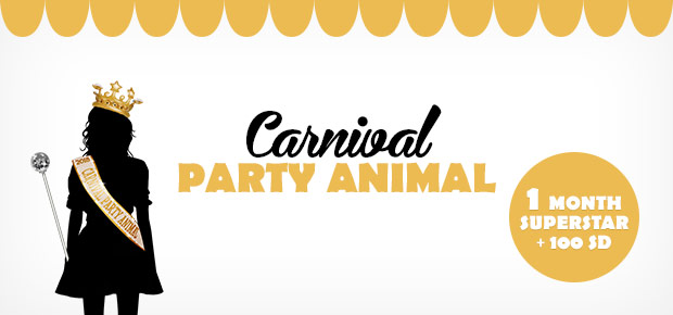 Be the Stardoll Carnival PARTY ANIMAL 2018!