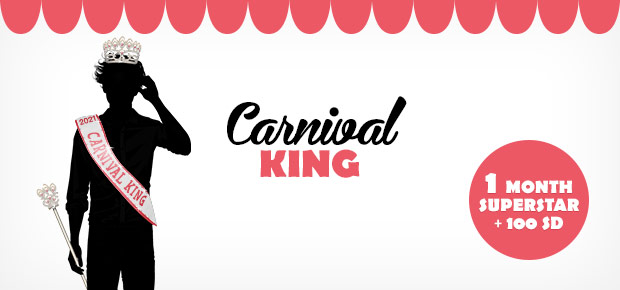 Stardoll Carnival King 2021 Winner + Featured Dolls