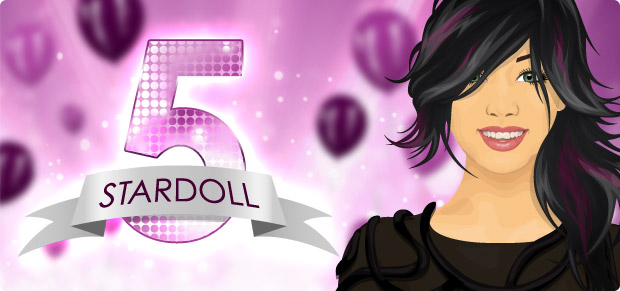 Stardoll.com is turning 5!