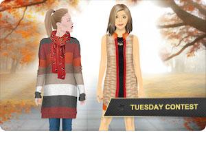 Conjunto con colores de otoño