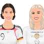 Birgit Prinz and Hope Solo